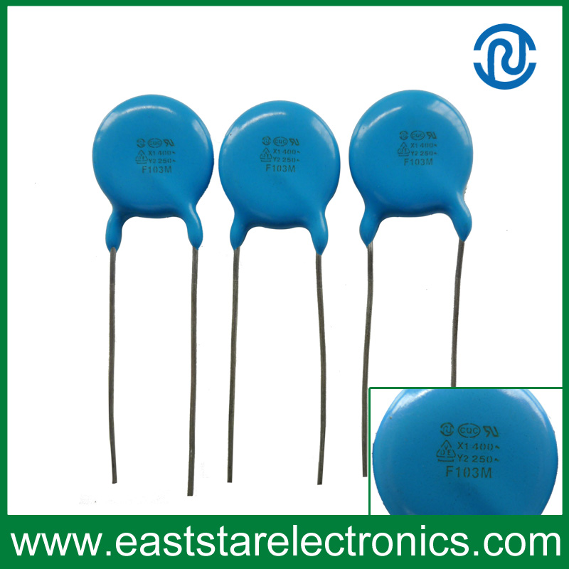 Y2-103m Safety Standard Recognized Ceramic Disc Capacitors