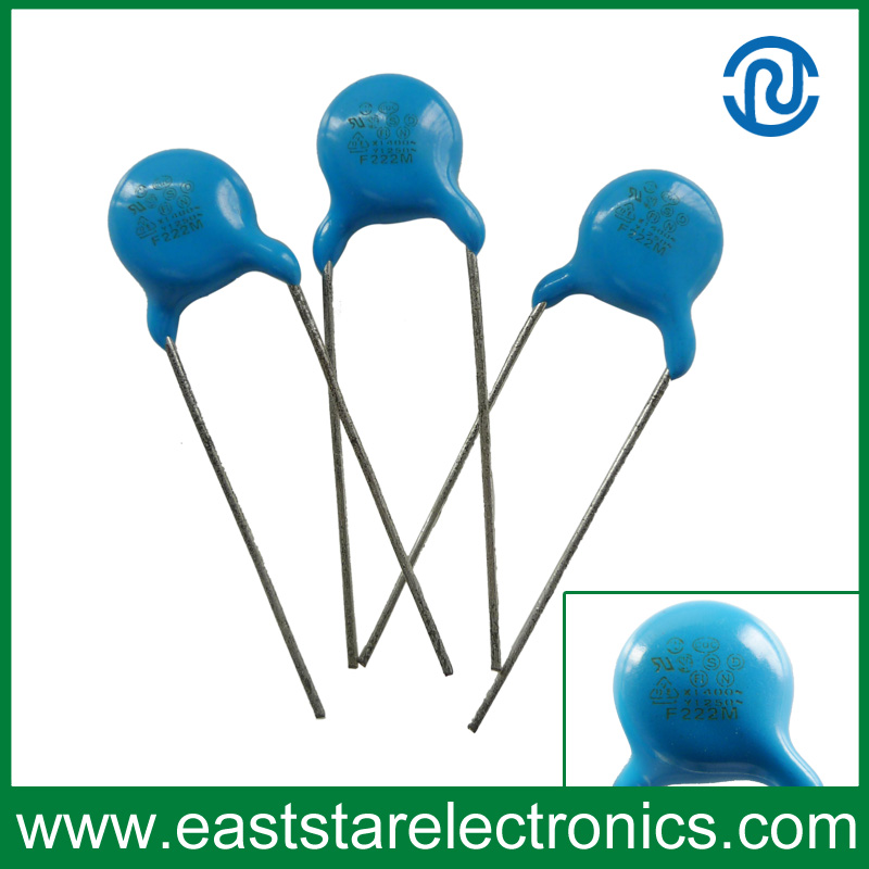 Y1-222m-Safety Standard Recognized Ceramic Disc Capacitors